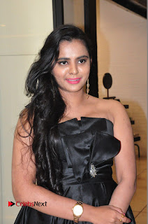 Actress Manasa Himavarsha Pictures in Black Short Dress at The Great Hydrerabad Life Style EXPO II  0002.JPG