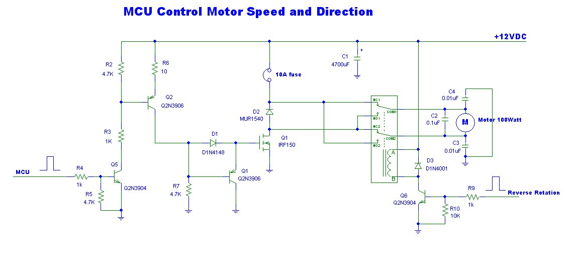 Using Irf150 Build A Mcu System Controller 12v Dc Motor Speed And
