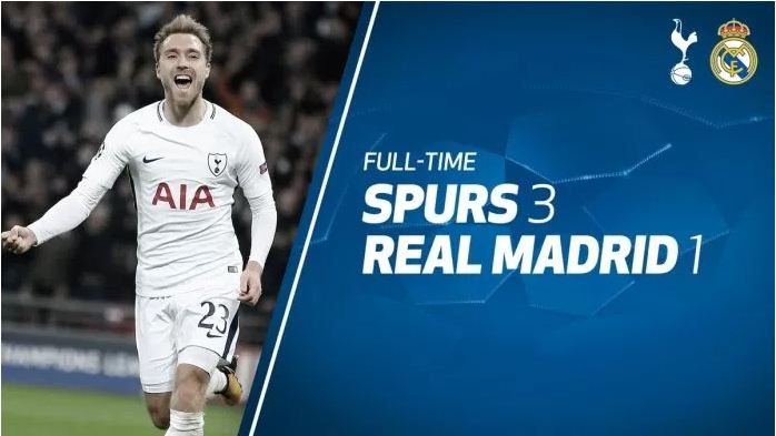 Video: Tottenham vs Real Madrid 3-1 – Highlights UEFA Champions League 01 November 2017