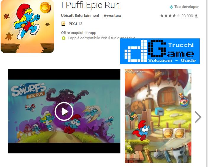 Trucchi I puffi: epic run Mod Apk Android v1.10.2