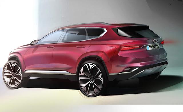 Hyundai revela novo teaser do Santa Fé 2019