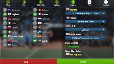 Tampilan Game Football Manager Mobile 2018