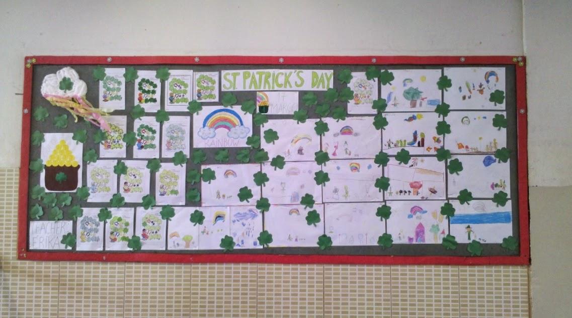 teacher st patrick's day musica mural