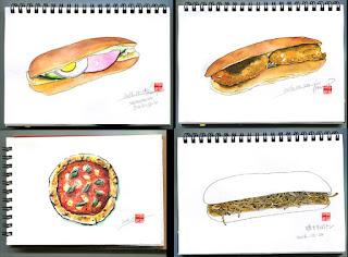 水彩画、食べ物の水彩、イラスト制作、イラスト、イラストレーター検索