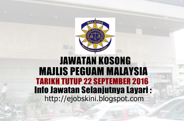 jawatan kosong majlis peguam negara september 2016