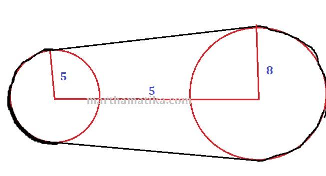 Contoh penerapan persamaan garis singgung lingkaran dalam kehidupan tali berwarna hitam tersebut terdiri dari 12 keliling lingkaran kecil 12 keliling lingkaran besar 2 garis singgung lingkaran atas dan bawah ccuart Choice Image