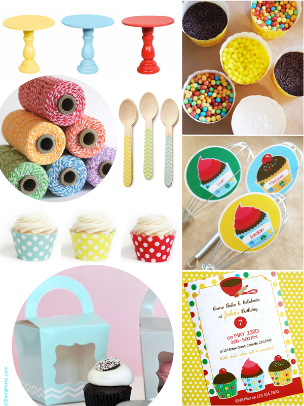 Baking Birthday Party Ideas For Girls or Boys - BirdsParty.com