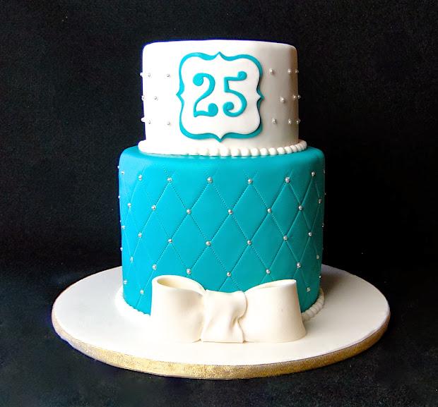 Elegant 25th Birthday Cake