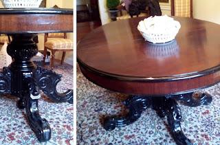 Restauración de mesa comedor antigua