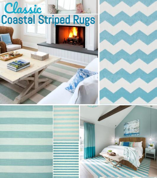 Light Blue Striped Rugs Decor Ideas