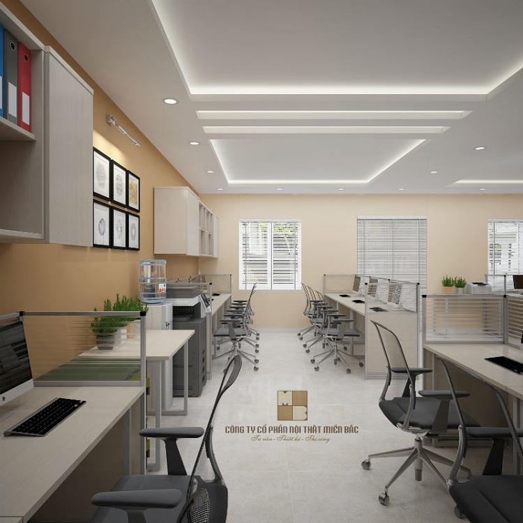Thiết kế không gian nội thất phòng làm việc tiết kiệm
