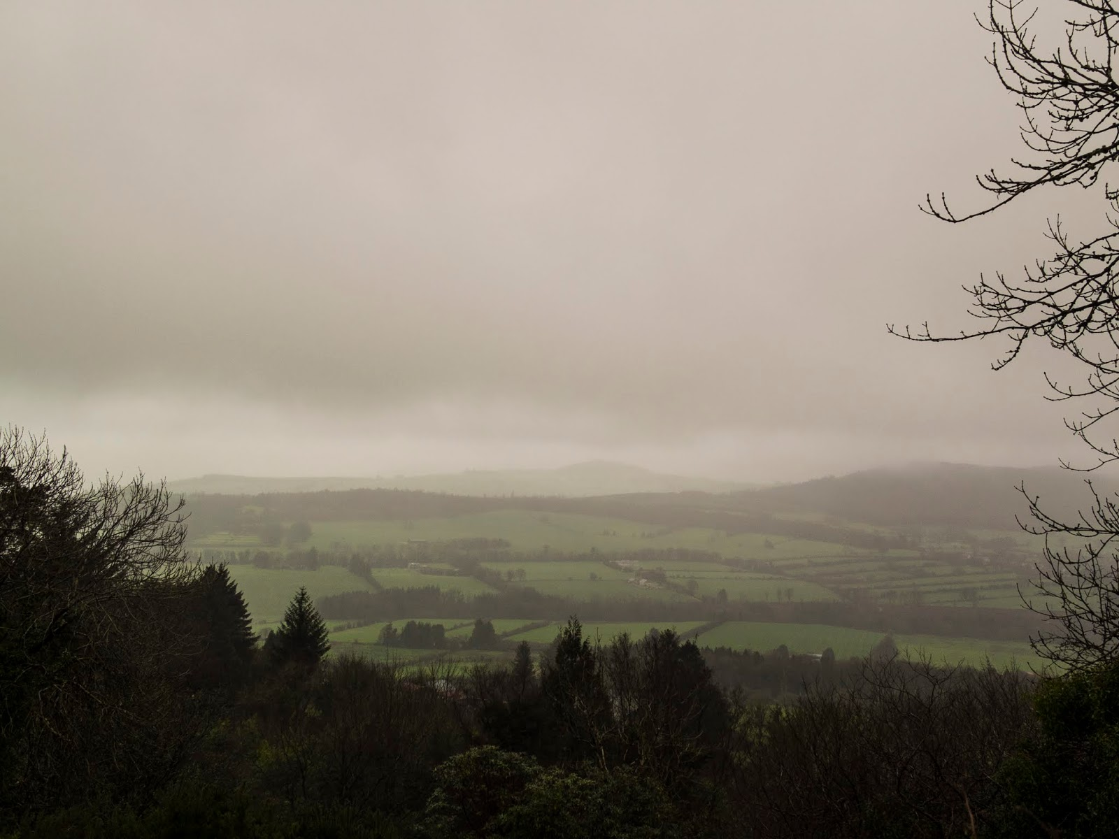 Foggy mountains in North County Cork.