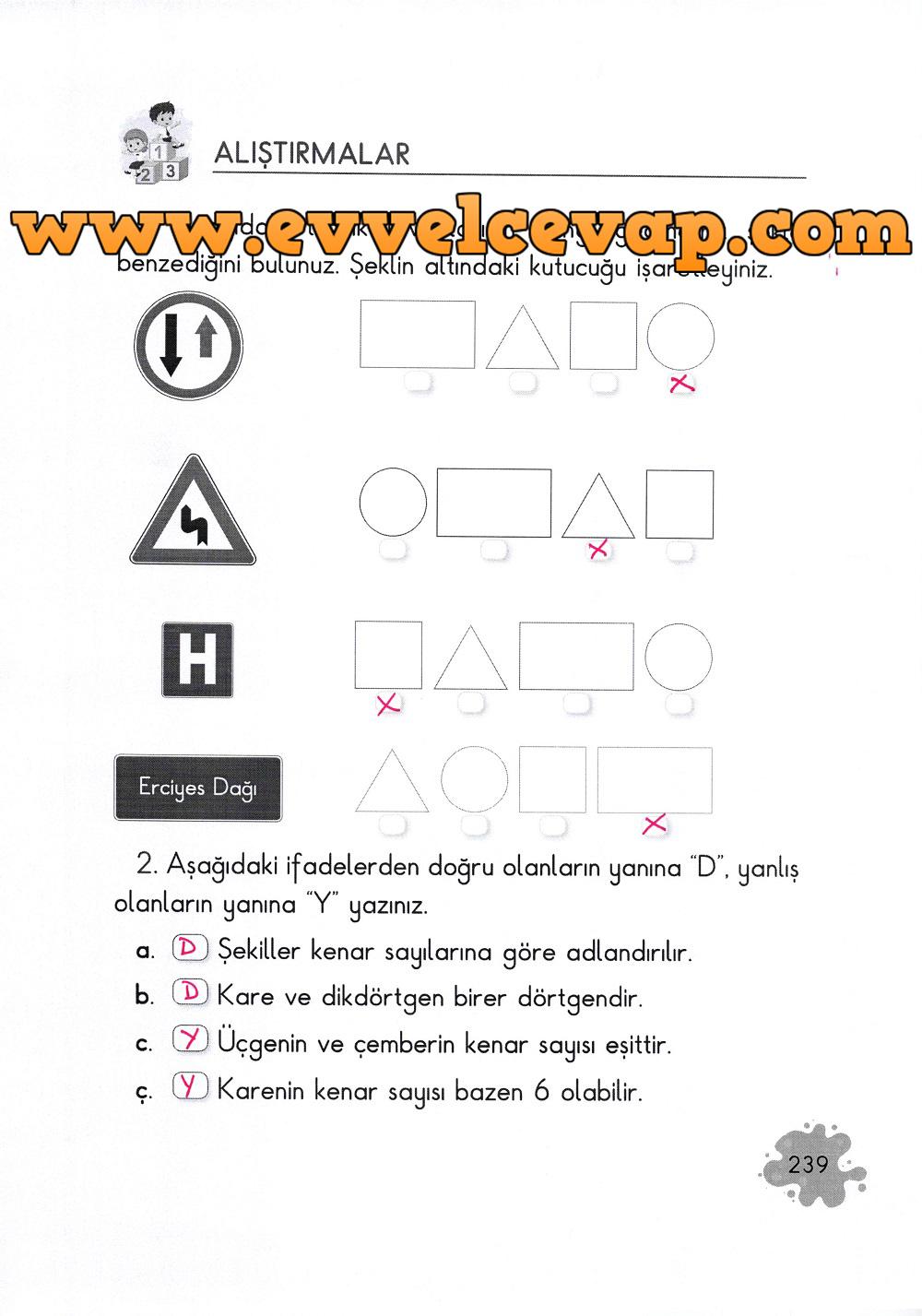 2. Sınıf Açılım Yayınları Matematik Ders Kitabı 239. Sayfa Cevapları