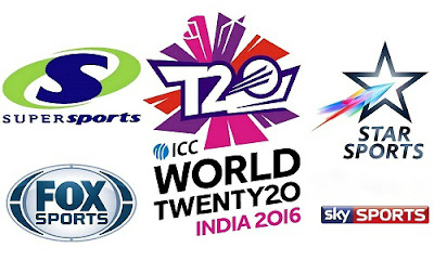 ICC T20 World Cup 2016 Live TV Broadcasting Channels List