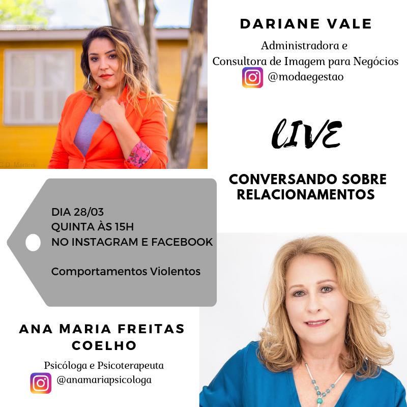 Live no instagram: Comportamentos Violentos