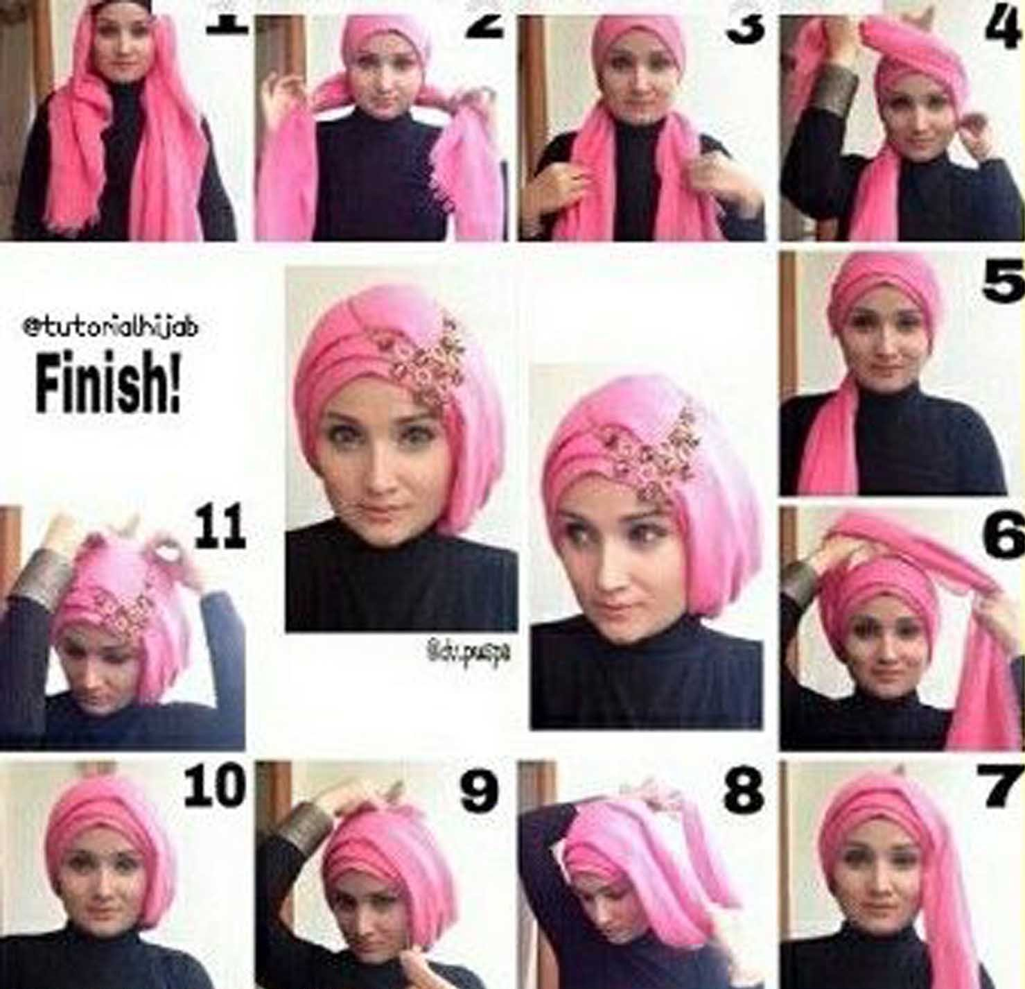 5 Tutorial Hijab Untuk Wisuda Terbaru 2017
