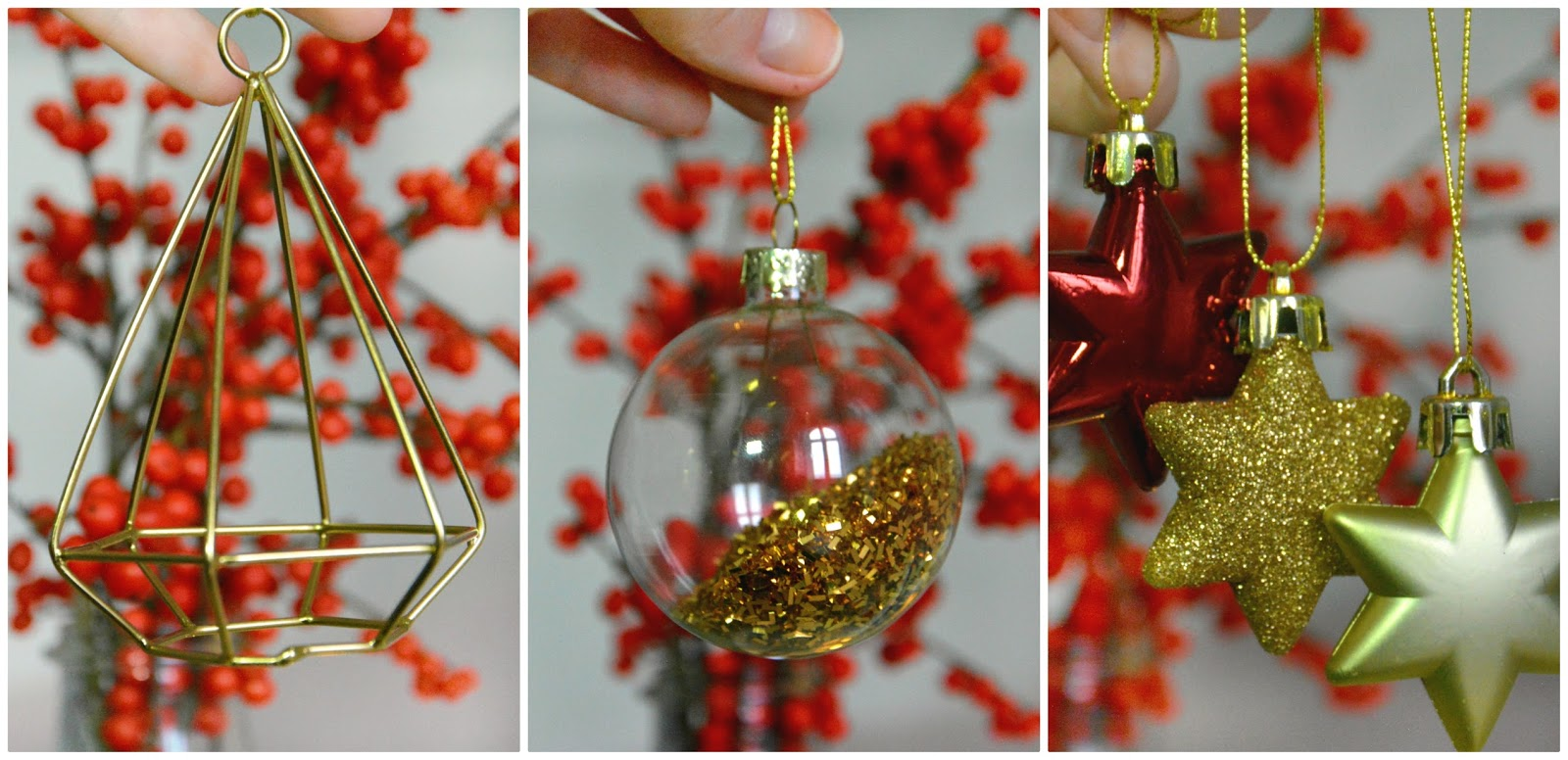 Baubles from H&M, Maisons Du Monde, & Primar