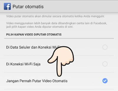 Cara Mematikan  (NonAktifkan) Video Putar Automatis Pada Facebook