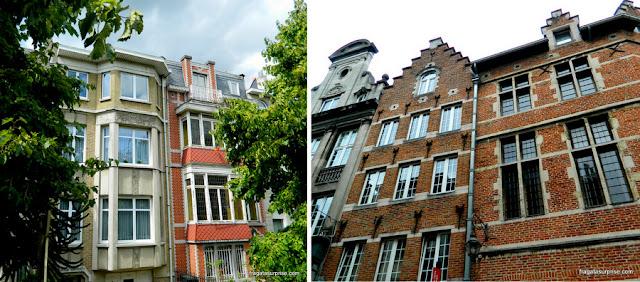 Arquitetura art nouveau e gótica em Bruxelas