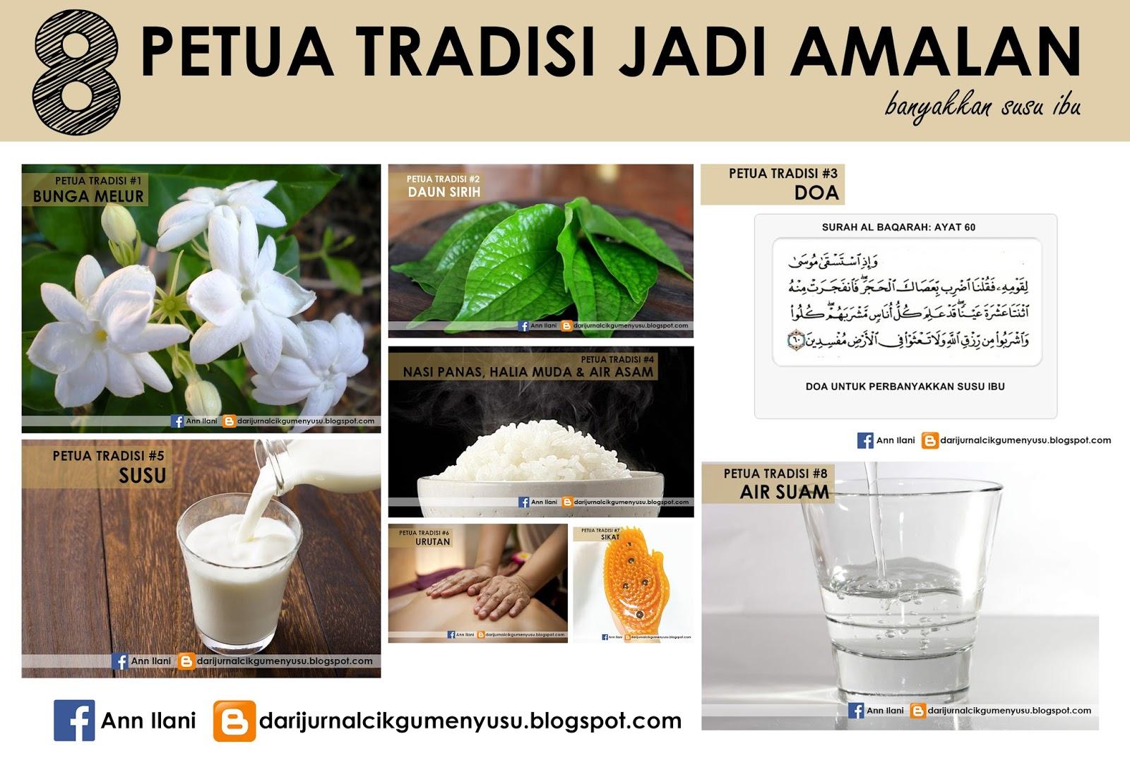 8 Petua Banyakkan Susu Badan Secara Tradisional