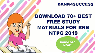 70+ Best Free Study Materials for RRB NTPC 2019 PDF - Download Now