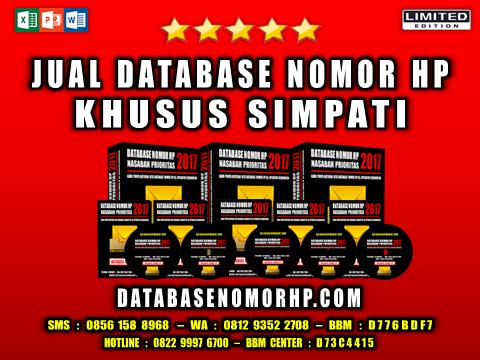 Jual Database Nomor HP Khusus Simpati
