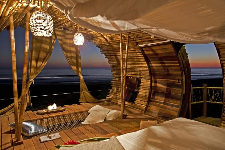 Hotel boutique sustentável em bambu