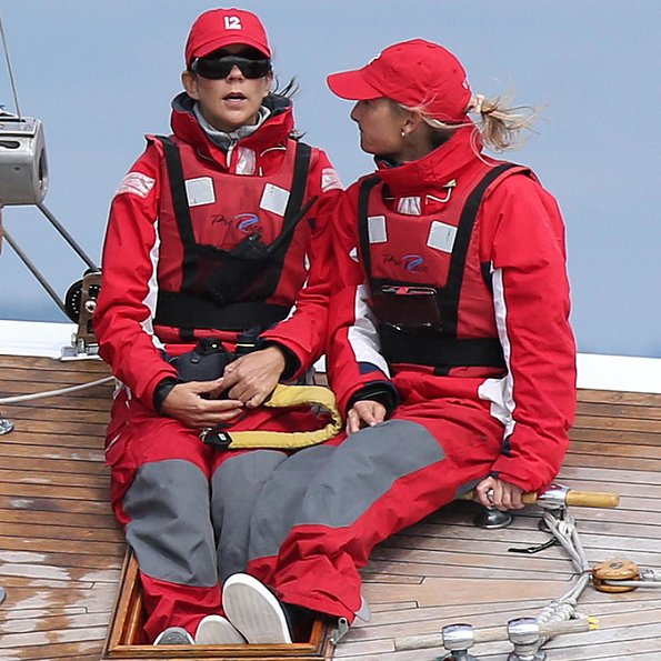 """Crown Princess Mary of Denmark participated in the """"Baltic Sea Challenge"""", a sailing regatta for 12 meter boats in Skovshoved"""