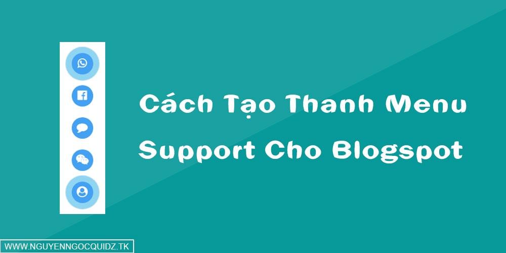 Cách Tạo Thanh Menu Support Cho Blogspot