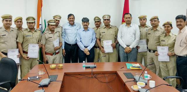 Police commissioner honored police personnel to solve Brahmajit massacre case