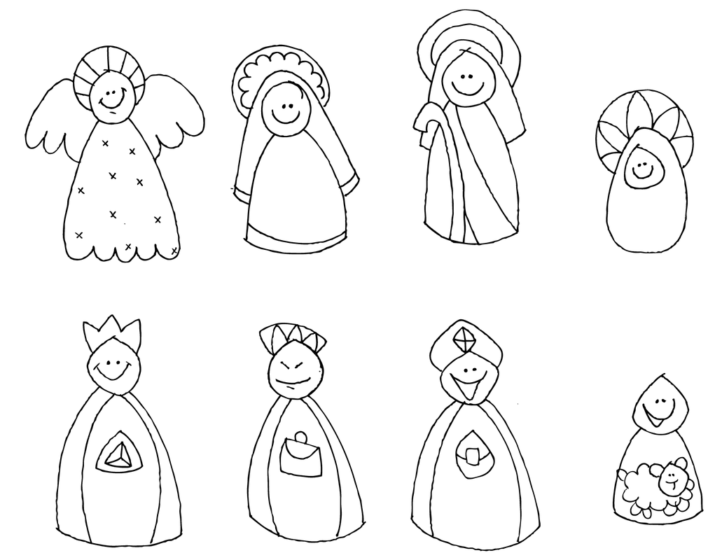 Materiales de religi n cat lica navidad 1 for Adornos navidenos para colorear y recortar