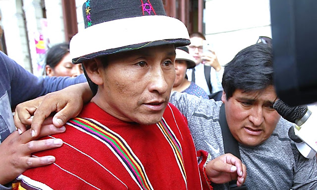 Gregorio Rojas, presidente de la comunidad de Fuera bamba