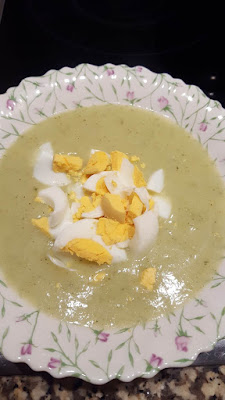 Cauliflower soup with boiled eggs recipe