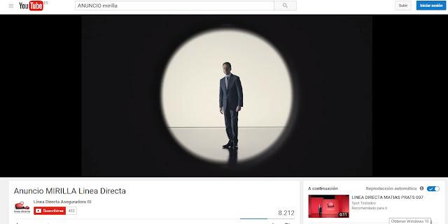 Matías Prats - Línea Directa - Anuncio mirilla - Youtube Anuncios de Seguros que me hacen sentir inseguro Publicidad - Campaña de Publicidad - ÁlvaroGP - Álvaro García - el troblogdita