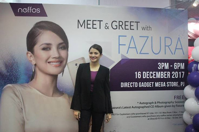 FAZURA ENGAGED WITH HER FANS DURING NEFFOS MEET & GREET EVENT