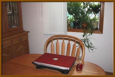 Notebook Kitchen Table Scene