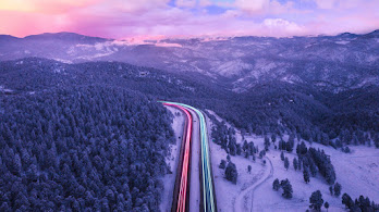 Colorful, Road, Trails, Scenery, Long Exposure, 4K, #4.2333