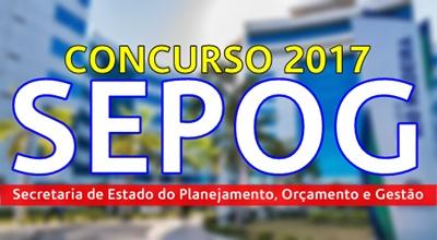 Concurso SEPOG RO 2017