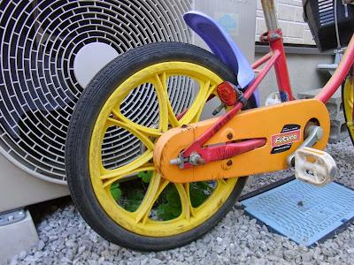何ともパステルな自転車を頂きました。邪魔だから持っていけ状態C