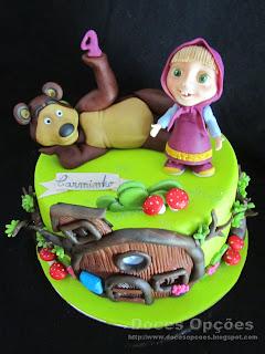 Bolo de aniversário Masha e o Urso