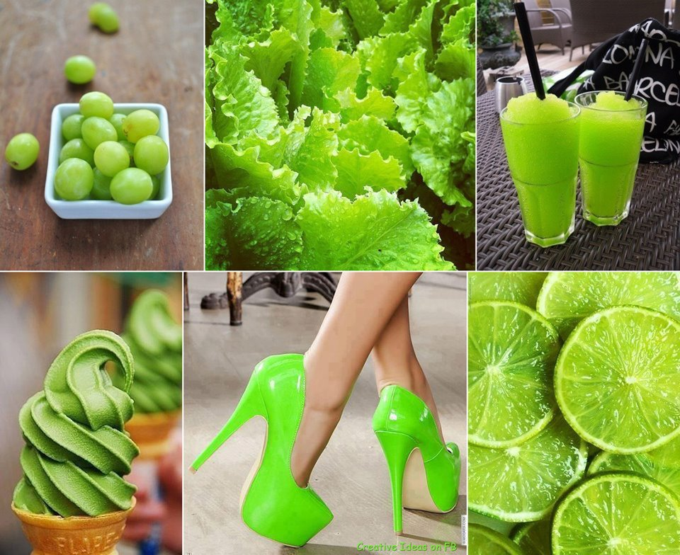 benda sehari-hari yang berwarna hijau