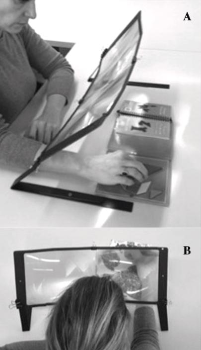 図:拡大鏡リハビリ 脳卒中患者