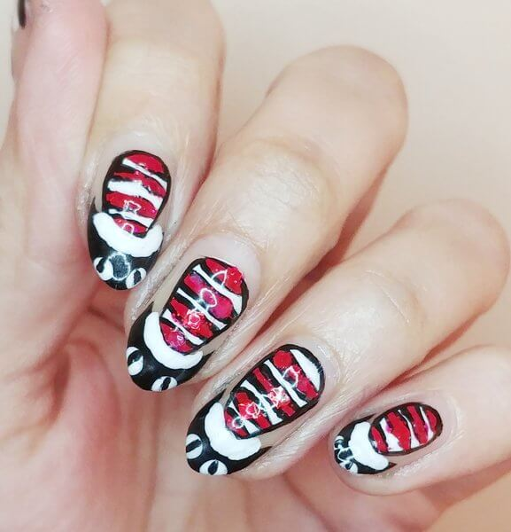 Truly Madly Beauty Notd Dr Seuss The Cat In The Hat Nails