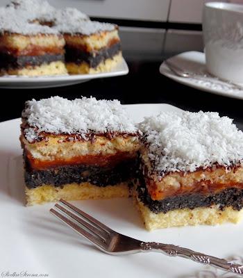 Ciasto Makowo-Jabłkowe na Biszkopcie (Makowiec z Jabłkami) - Przepis - Słodka Strona