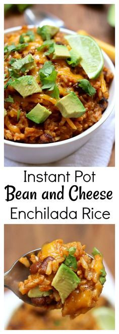 INSTANT POT CHEESY ENCHILADA RICE RECIPES