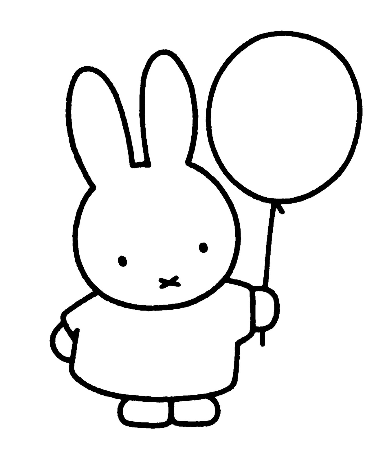 Cartoon Images For Colouring: Miffy Coloring Page For Kids