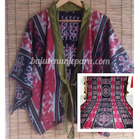 Jual Baju Tenun Wanita Kain Tenun Blanket BWBL - 001
