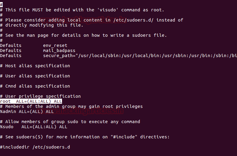 Linux Privilege Escalation using Sudo Rights
