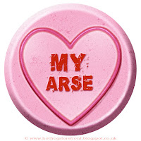 My Arse text on Love Heart sweet free image for texting