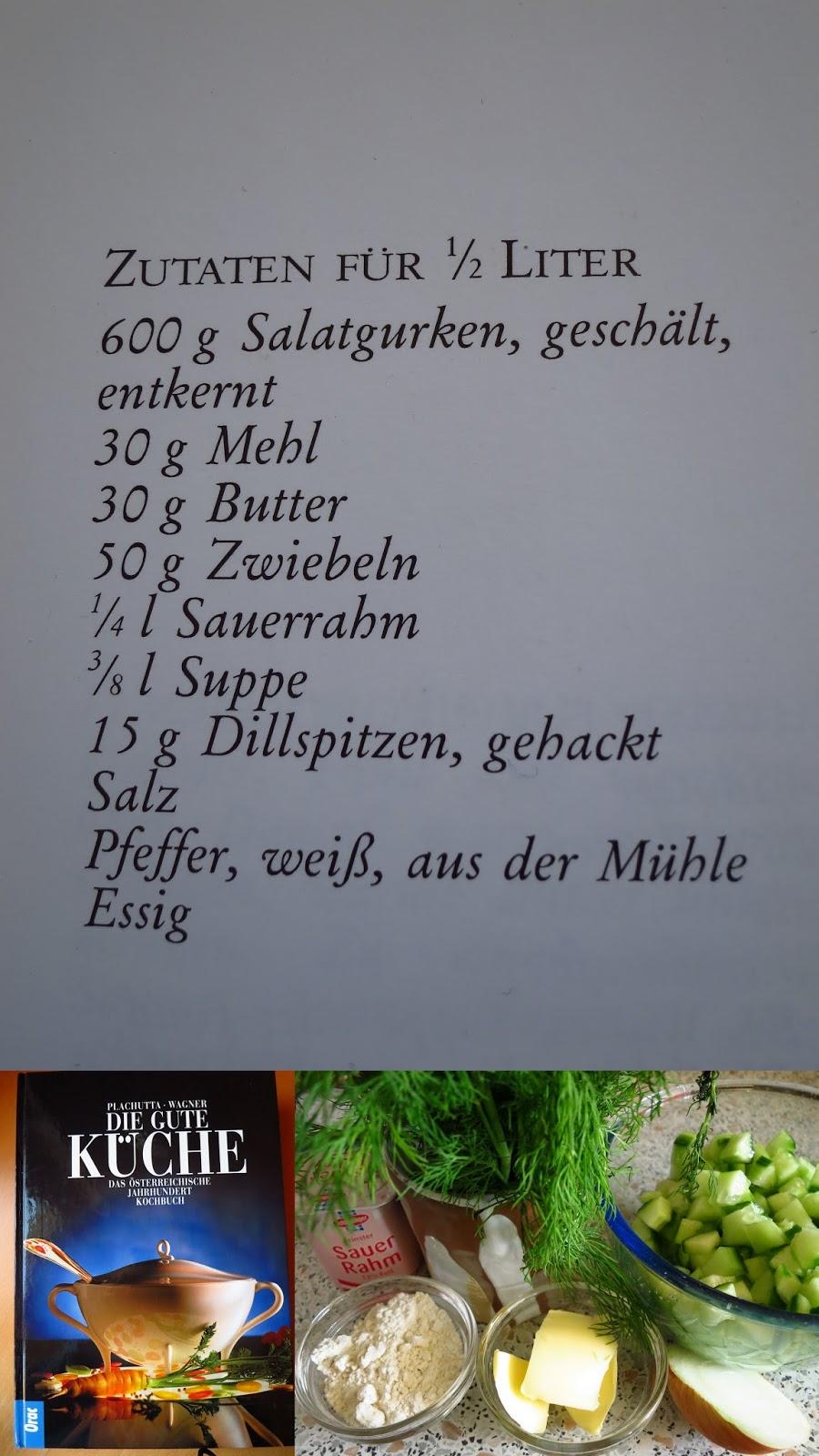 fliederbaum: #wirrettenwaszurettenist: gurkensauce zum rindfleisch - Plachutta Die Gute Küche
